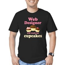 Web Designer Will Work For Cupcakes T