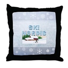TOP Ski Nordic Throw Pillow