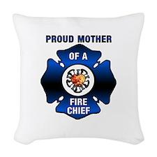 Fire Chiefs Mother Woven Throw Pillow