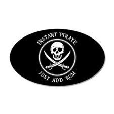 Instant Pirate - Just Add Rum! Decal Wall Sticker