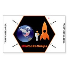 "USRocketShips 3x5"" Decal"