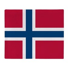 Norwegian Flag Throw Blanket