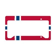 Norwegian Flag License Plate Holder