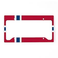 Norwegian Flag License Plate Holder
