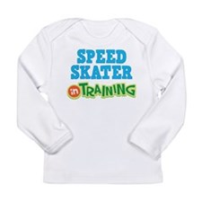 Speed Skater in Training Long Sleeve Infant T-Shir