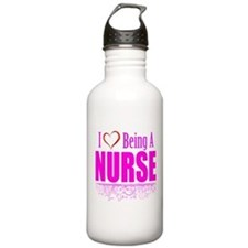 I Love Being A Nurse Water Bottle
