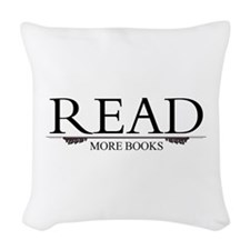 Read More Books Woven Throw Pillow
