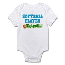Softball Player in Training Infant Bodysuit