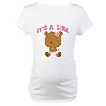 Cute Baby Bear Its A Girl Maternity T-Shirt