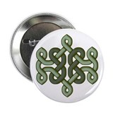 Green celtic knot Button