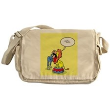 Lion sneezing Messenger Bag