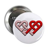 Celtic hearts Button
