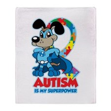 Autism Is My Super Power Throw Blanket
