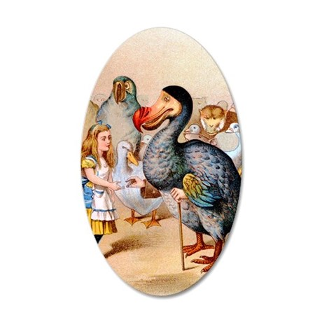Alice  the Dodo_10x14 35x21 Oval Wall Decal