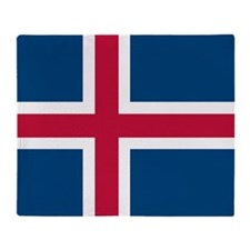 Icelandic Flag Throw Blanket