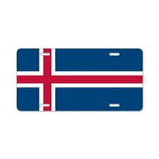 Icelandic Flag Aluminum License Plate