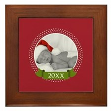 Photo Frame with Year Red Framed Tile
