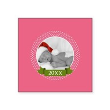 Photo Frame with Year Pink Sticker