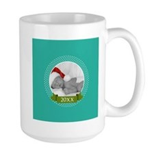 Photo Frame with Year Teal Mugs