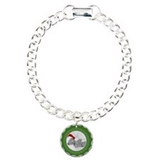 Photo Frame Green Polka Dots Bracelet