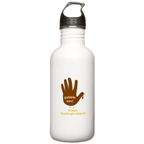 gobble tov! stainless steel water bottle (1.0L)