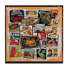 Crate Labels Tile Coaster