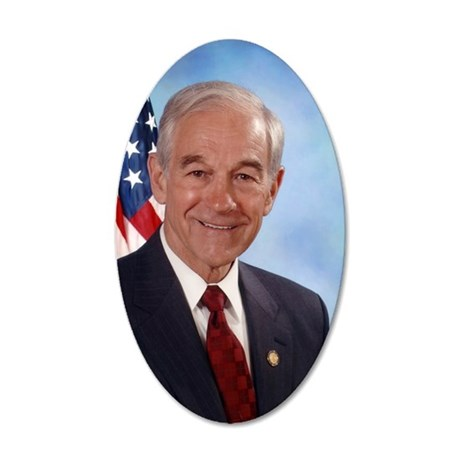 Ron Paul Congressional Photo 35x21 Oval Wall Decal