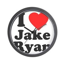 I Love Jake Ryan Wall Clock