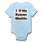 I Love My Rescue Sheltie Infant Bodysuit