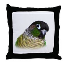 Green Cheek Conure.jpg Throw Pillow