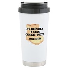 Army Sister Brother Desert Combat Boots Travel Mug