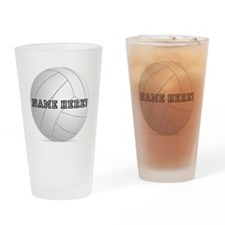Personalized Volleyball Player Drinking Glass