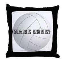 Personalized Volleyball Player Throw Pillow