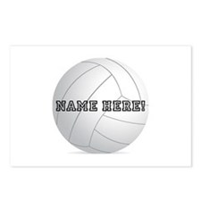 Personalized Volleyball Player Postcards (Package