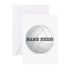 Personalized Volleyball Player Greeting Cards (Pk