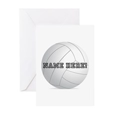 Personalized Volleyball Player Greeting Card