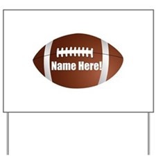Personalized Football Yard Sign