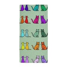 Rainbow Of Cats Beach Towel