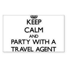 Keep Calm and Party With a Travel Agent Decal