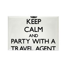 Keep Calm and Party With a Travel Agent Magnets