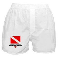 Dive Flag (Diving Not Dangerous) Boxer Shorts