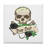 DROP DEAD Anti-Valentine Tile Coaster