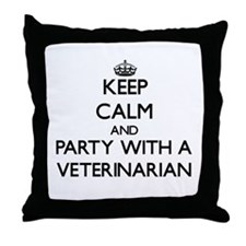 Keep Calm and Party With a Veterinarian Throw Pill