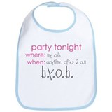 Party at my crib pink Bib