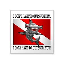 Dive Flag (Outswim) Sticker