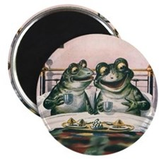 Magnet - Frogs Having Breakfast in Bed