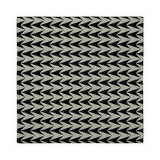Black and Grey Arrowhead Pattern Queen Duvet
