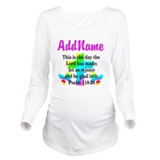 PSALM 118:24 Long Sleeve Maternity T-Shirt