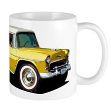 BabyAmericanMuscleCar_55BelR_Xmas_Yellow Mugs