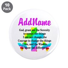 "SERENITY PRAYER 3.5"" Button (10 pack)"